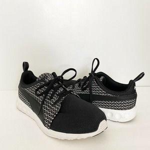 Women's Puma Carson Runner Knit Black Sneakers